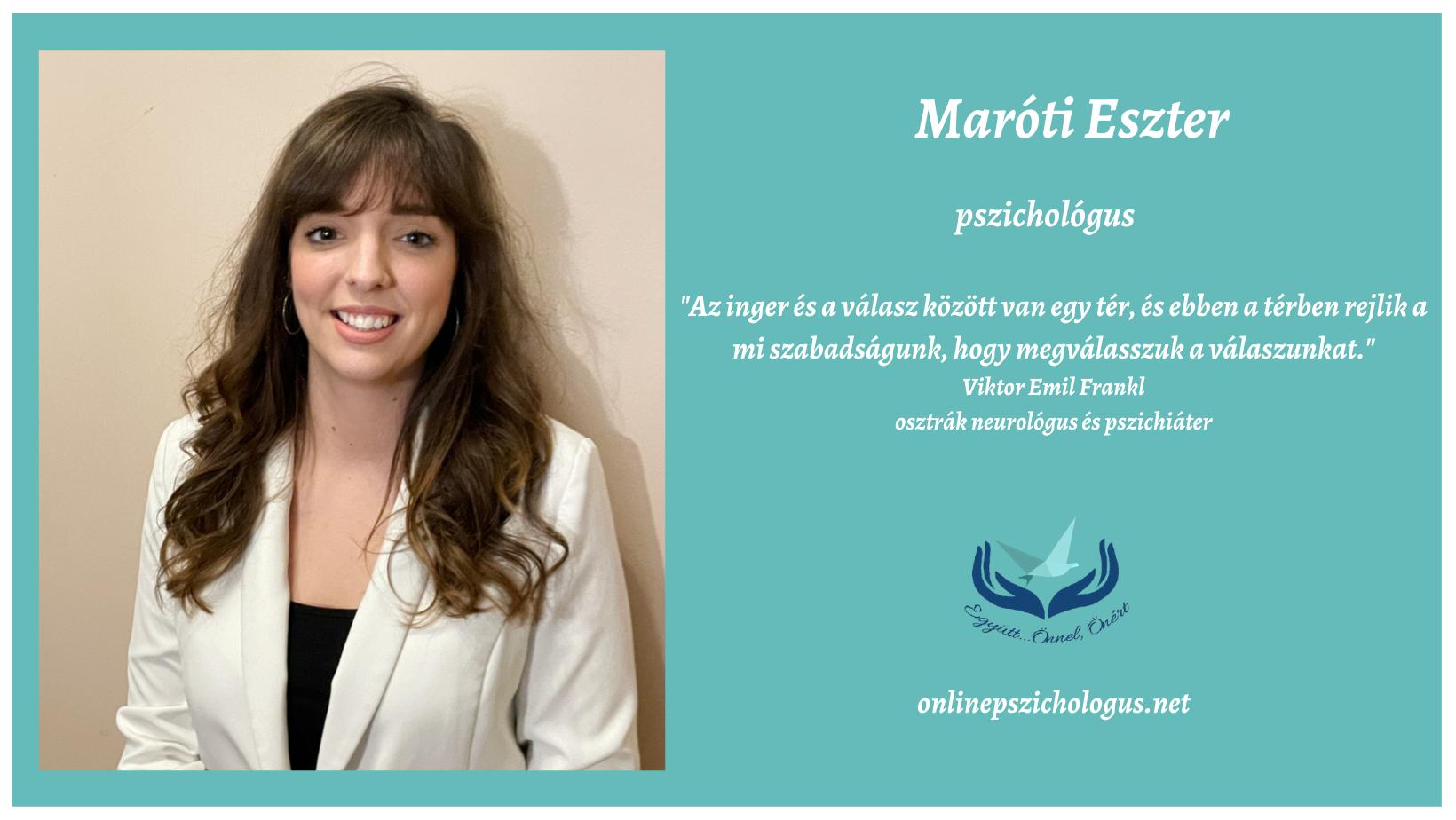 Interjú Maróti Eszter pszichológussal