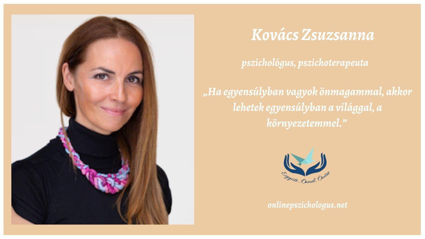 Interjú Kovács Zsuzsanna pszichoterapeutával