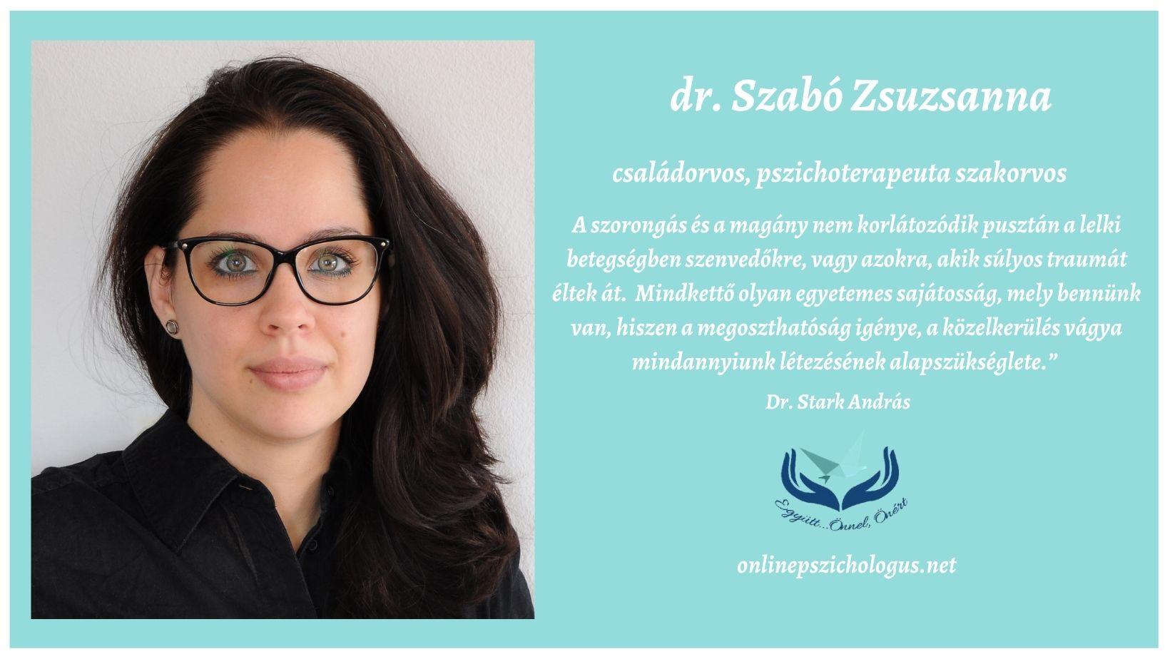 Interjú dr. Szabó Zsuzsanna családorvos, pszichoterapeuta szakorvossal