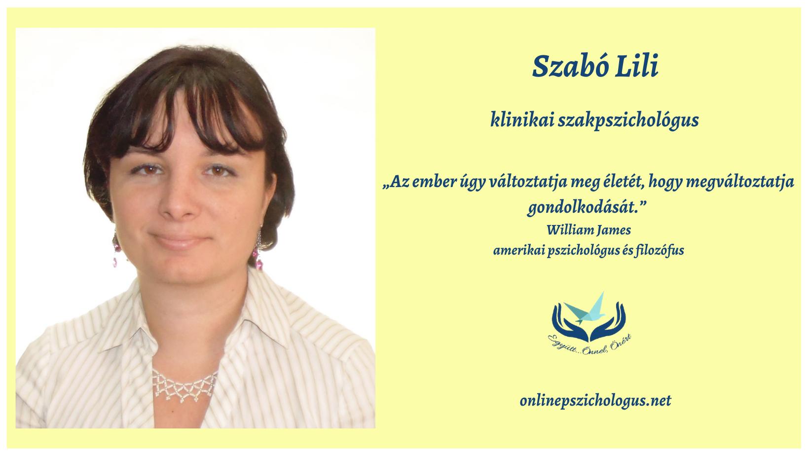Interjú Szabó Lili klinikai szakpszichológussal